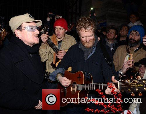 Bono, Glen Hansard and Stephen Park 1