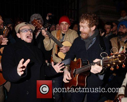 Bono, Glen Hansard and Stephen Park 6