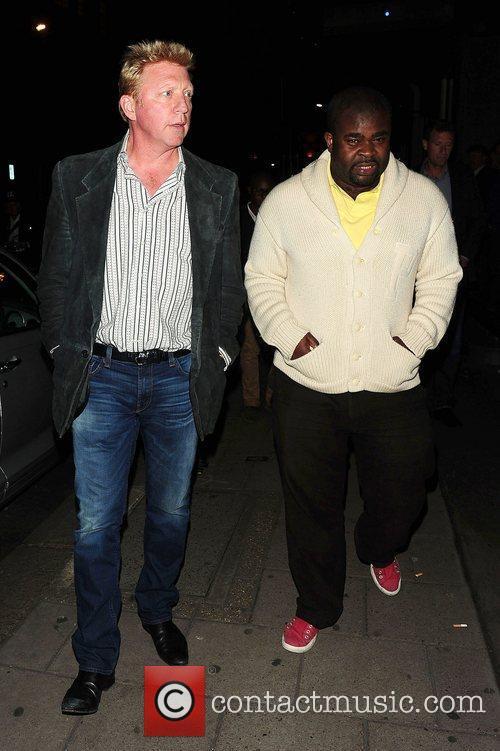 Boris Becker leaving Novikov restaurant London, England