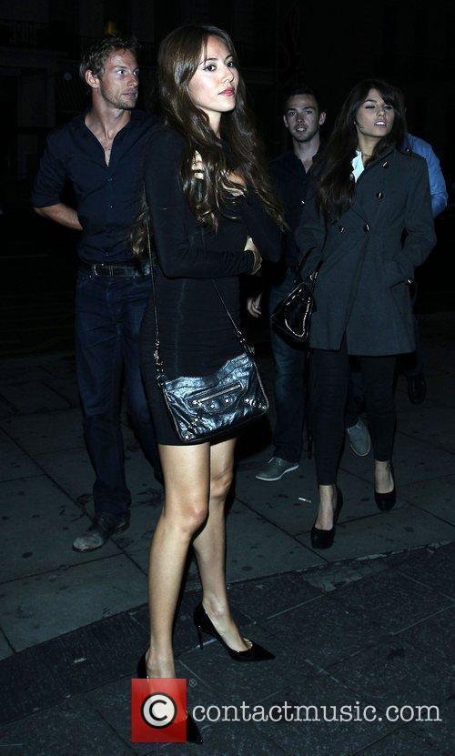 Jenson Button and Jessica Michibata outside Boujis nightclub...