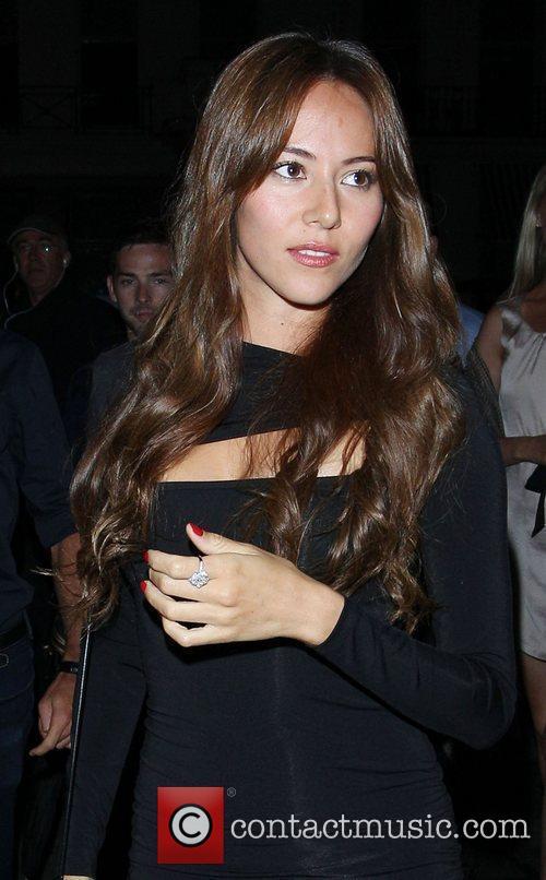 Jessica Michibata outside Boujis nightclub in London