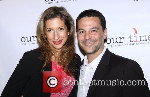 Alysia Reiner and David Alan Basche attending the...