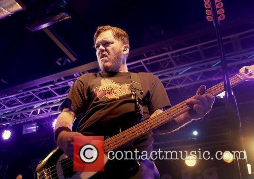 Erik Chandler of Bowling for Soup performing at...