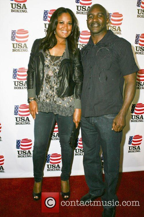 Evander Holyfield and Laila Ali 2