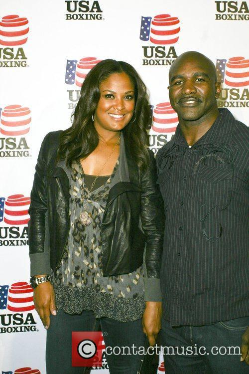 Evander Holyfield and Laila Ali 5