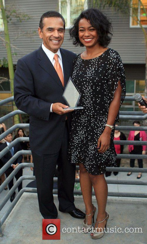 Tatyana Ali and Antonio Villaraigosa 4