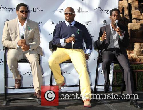 Boyz II Men attend a special announcement event...