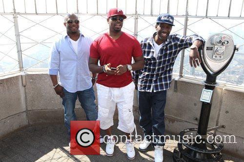 Boyz II Men promote their new single at...