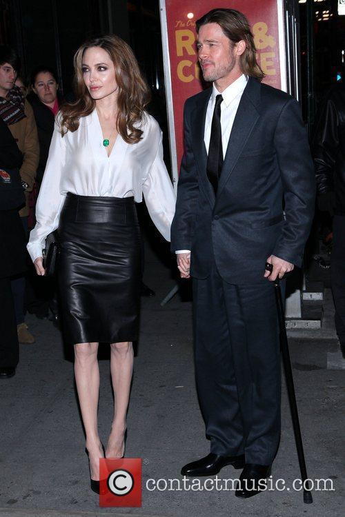 Angelina Jolie and Brad Pitt 77th Annual New...