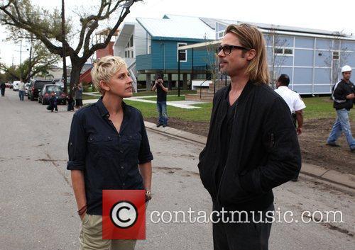 Ellen Degeneres and Brad Pitt 1
