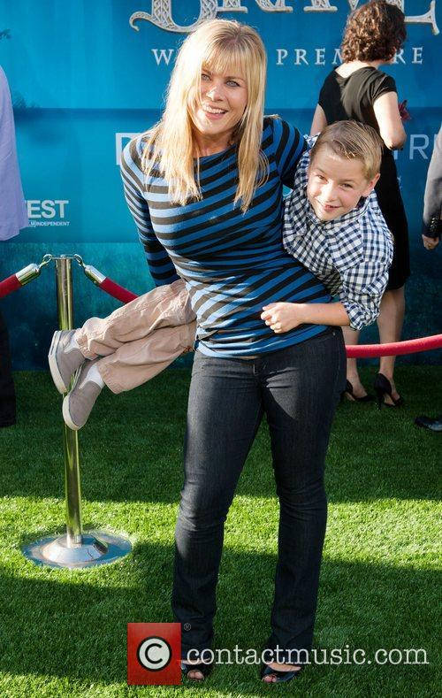 Allison Sweeney and son 2012 Los Angeles Film...