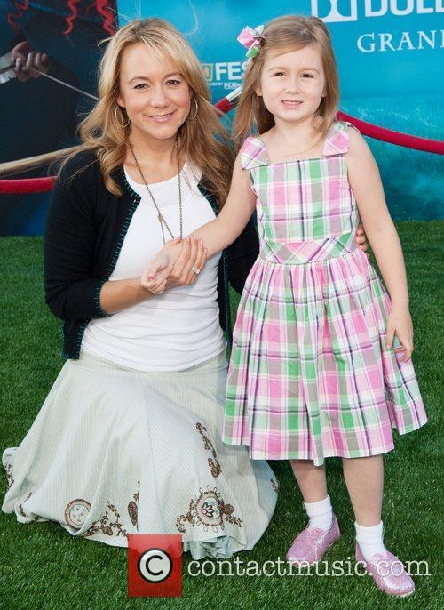Megyn Price and daughter 2012 Los Angeles Film...