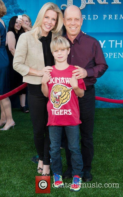 Scott Hamilton and family 2012 Los Angeles Film...
