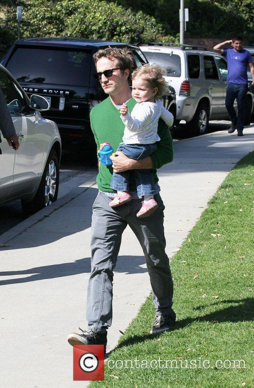 Breckin Meyer enjoys the day at Coldwater Canyon...
