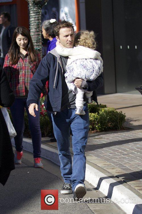 Breckin Meyer  seen with his daughter Caitlin...