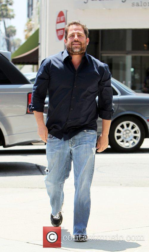 Exits Juan Juan salon in Beverly Hills. He...