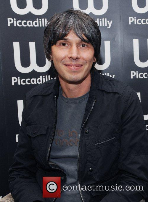 Brian Cox at a book signing at Waterstone's,...