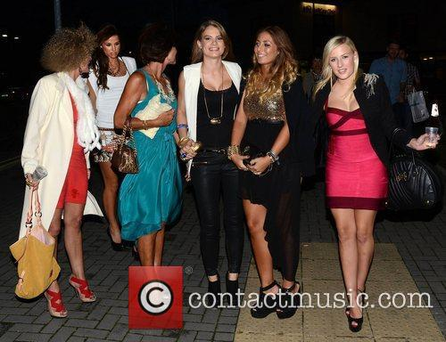 Vogue Williams and Amber Williams with friends Brian...