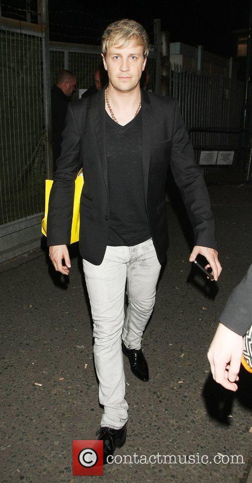 Celebrities leave the 'Britain's Got Talent' studios after...