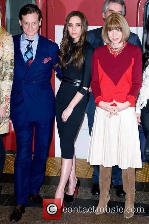 Hamish Bowles, Anna Wintour and Victoria Beckham