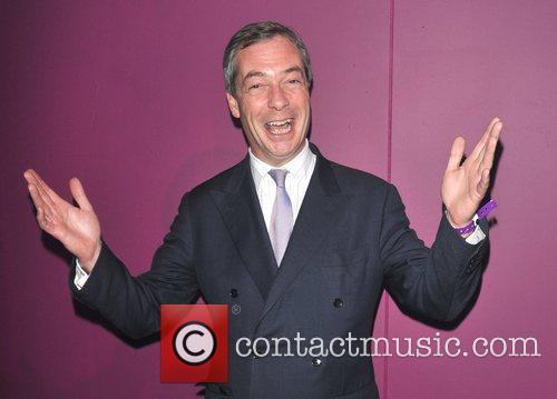 UK Independent Party leader Nigel Farage British Curry...