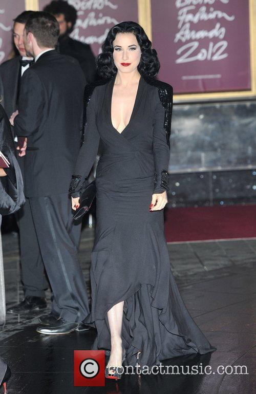Dita Von Teese The British Fashion Awards held...