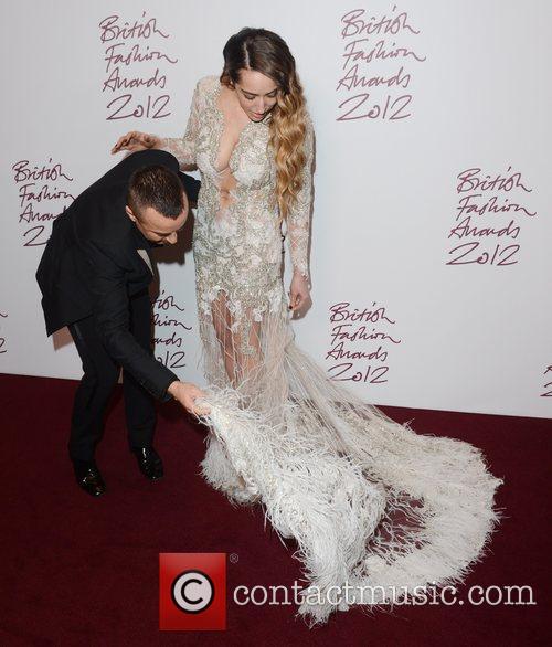 Delilah and Julien Macdonald at the British Fashion...