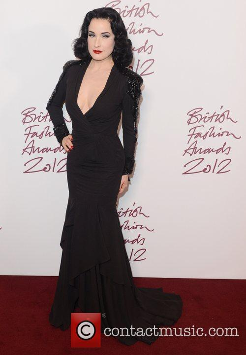 Dita Von Teese at the British Fashion Awards...