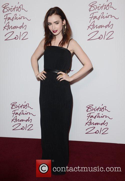Lily Collins, British Fashion Awards, The Savoy, London and England 4