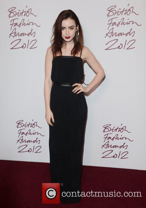 Lily Collins, British Fashion Awards, The Savoy, London and England 5