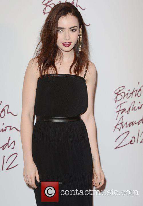 Lily Collins, British Fashion Awards, The Savoy, London and England 1