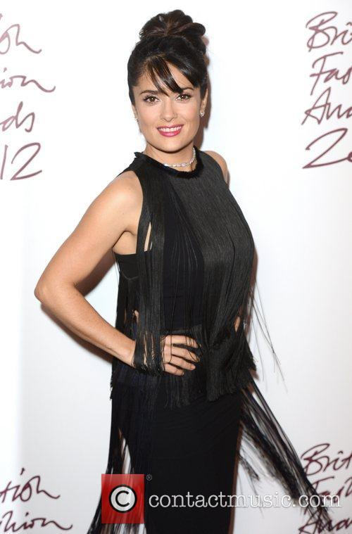 Salma Hayek, British Fashion Awards, The Savoy, London, England