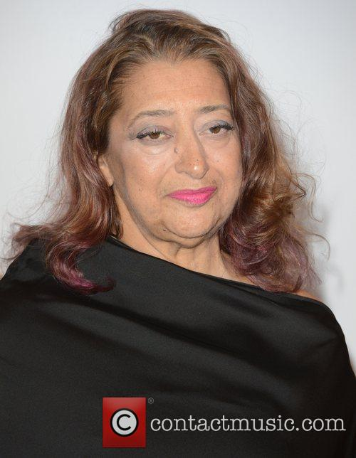 Zaha Hadid at the British Fashion Awards at...