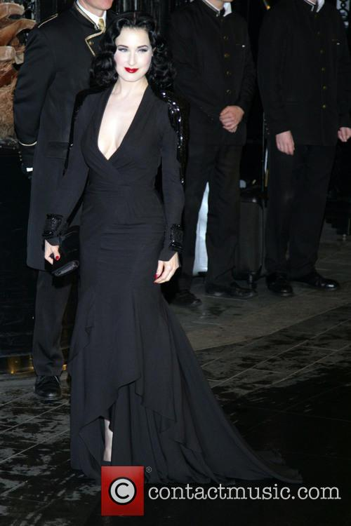 Dita, Teese, Savoy and British Fashion Award London 11