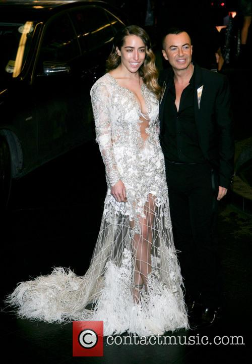 Julien Macdonald  arriving at the Savoy hotel...