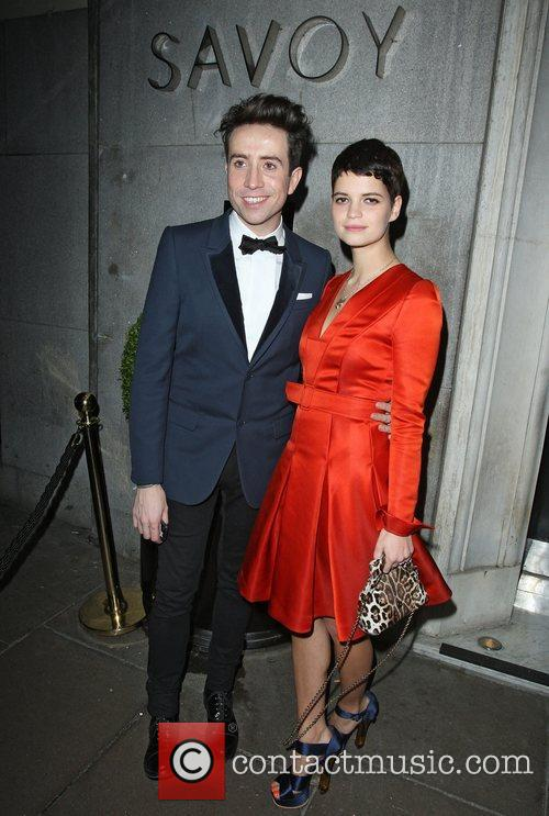 Nick Grimshaw and Pixie Geldof leaving The British...