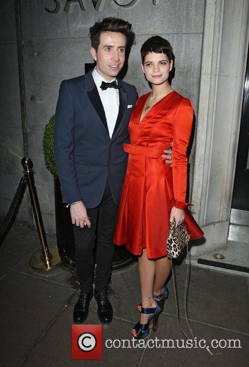 Nick Grimshaw and Pixie Geldof leaving The British...