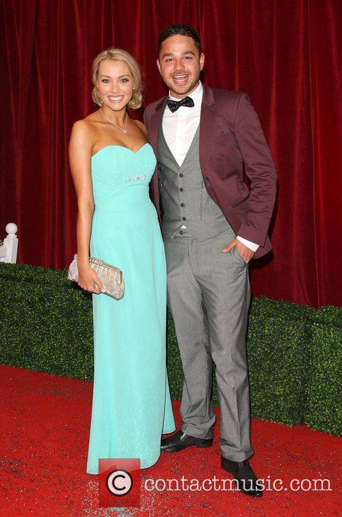 Adam Thomas and girlfriend Caroline Daly The British...