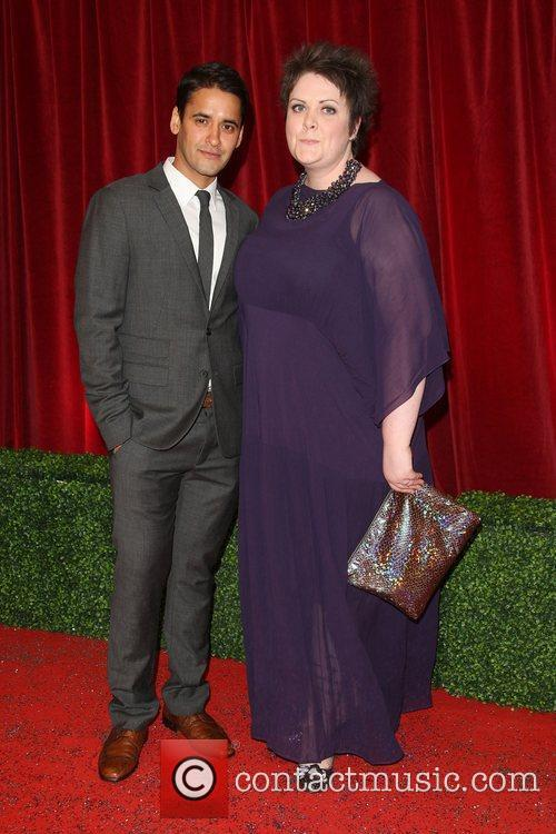 Lu Corfield and guest The British Soap Awards...