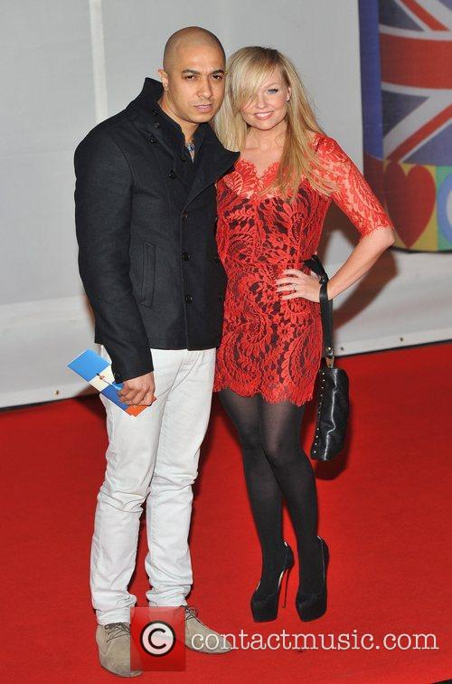 Emma Bunton and guest The BRIT Awards 2012...