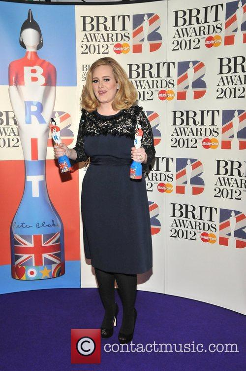 Adele at the Brits 2012