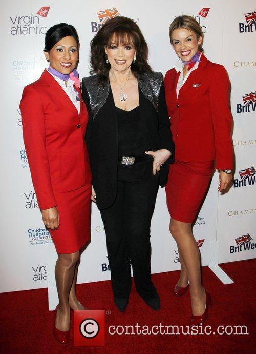 Jackie Collins and Virgin Atlantic flight attendants Britweek...