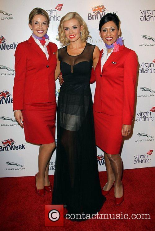 Katherine Jenkins and Virgin Atlantic flight attendants Britweek...