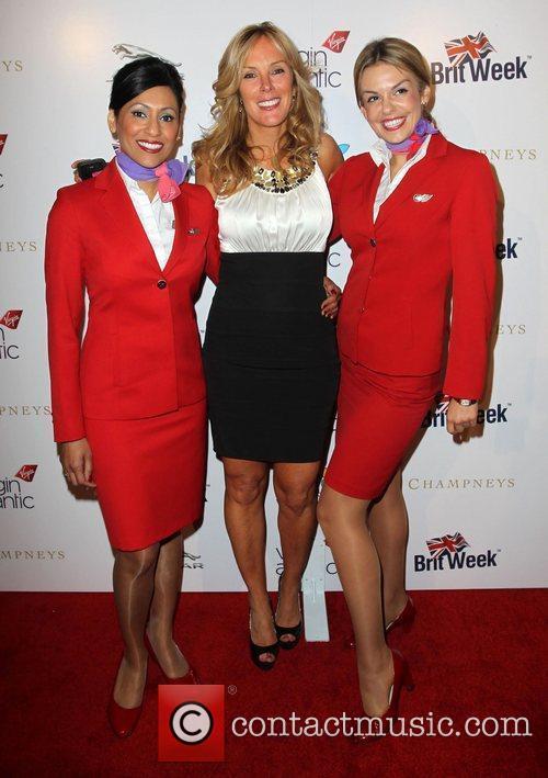 Sarah Robarts and Virgin Atlantic flight attendants Britweek...