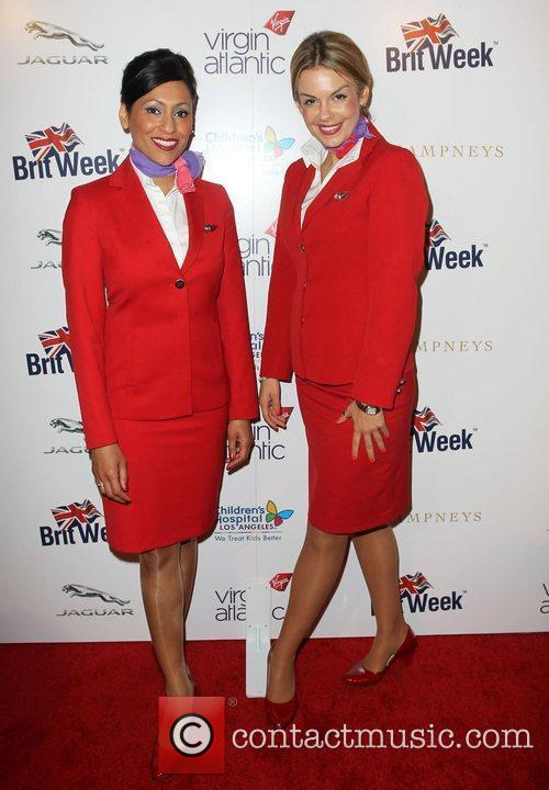 Virgin Atlantic flight attendants Britweek 2012 Gala hosted...