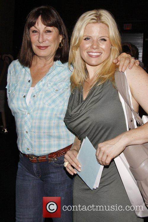 Anjelica Huston and Megan Hilty from TV show...