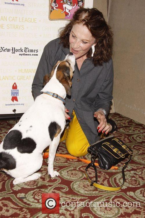 Linda Lavin and her dog Mickey Broadway Barks:...