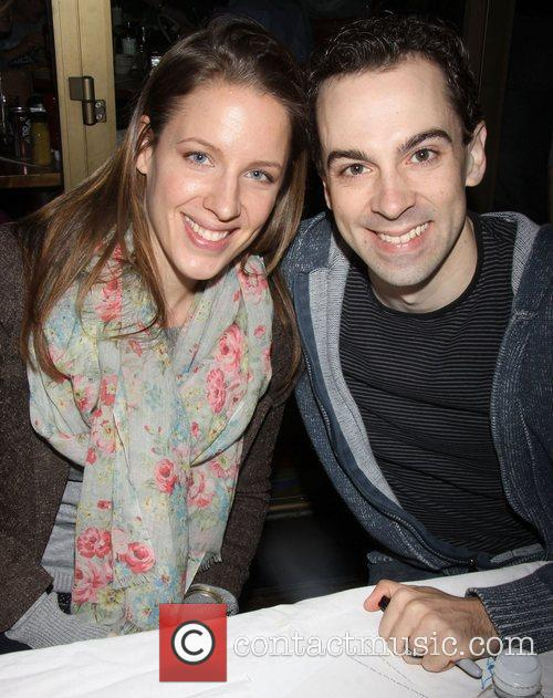 Jessie Mueller and Rob McClure attending the 26th...