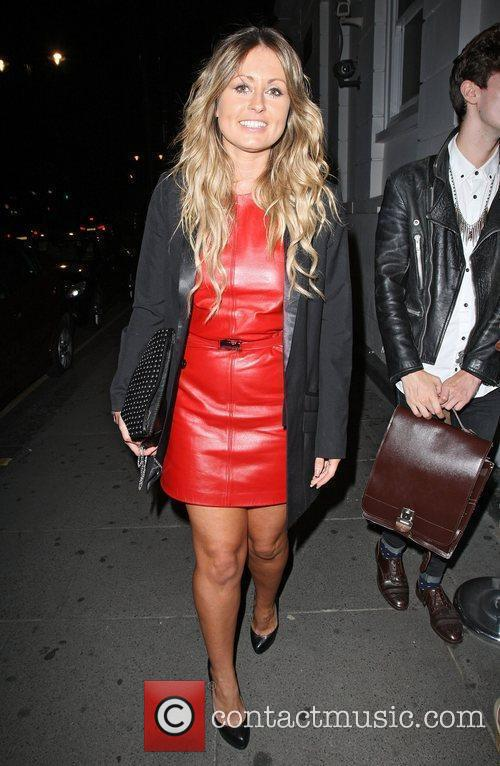 Footballers' Wives, Sarah Barrand arriving at the Brompton...