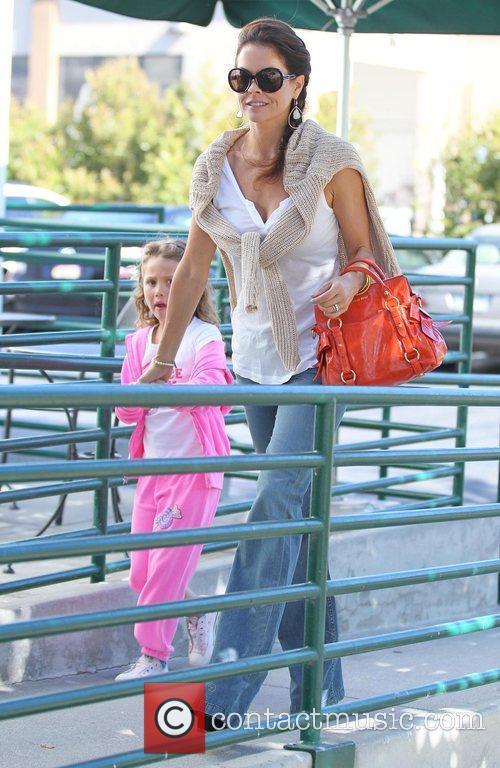 Brooke Burke Charvet  arriving at Starbucks in...